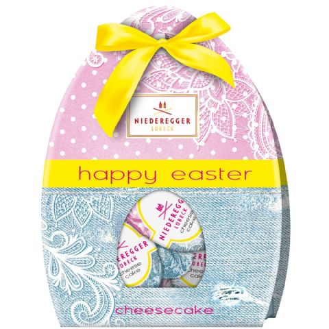 Cheesecake Happy Easter Eggs Milk Chocolate Niederegger Marzipan 85g